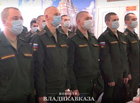 На службу в 58-ю армию прибыло 100 новобранцев